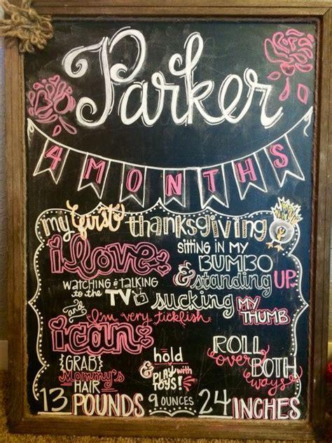 diy chalkboard milestone 4 month baby chalkboard monthly milestone chalkboard