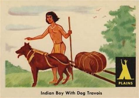 indian trade price guide 1959 indian trading card indian boy with travois 3