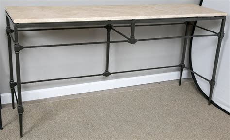 wrought iron sofa tables wrought iron console sofa table for sale at 1stdibs