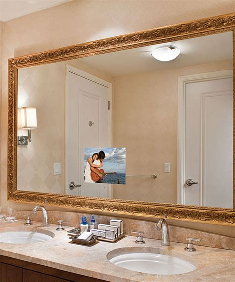 tv in mirror bathroom stanford bathroom mirror tv electric mirror water