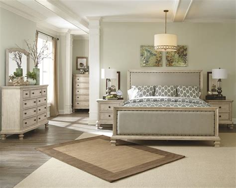 millennium bedroom furniture demarlos king size upholstered bed by millennium