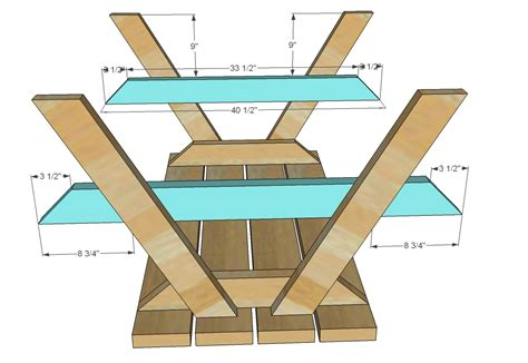 picnic table woodworking plans white build a bigger kid s picnic table diy projects