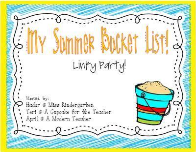 my list kinderkids my summer list