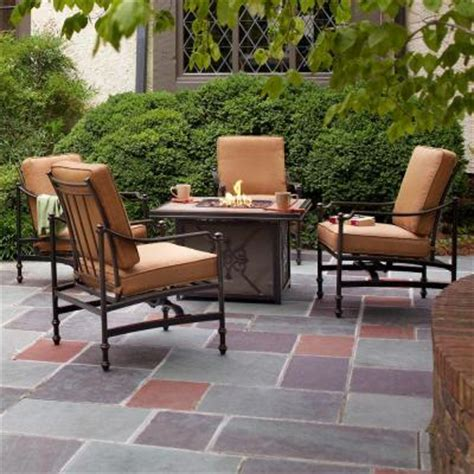 seating patio furniture sets hton bay niles park 5 gas pit patio seating
