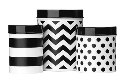black and white kitchen canisters premier housewares set of 3 black white domino storage