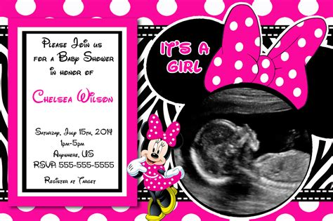 how to make minnie mouse invitation cards baby shower invitations minnie mouse theruntime