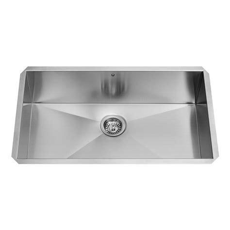 single basin stainless steel undermount kitchen sink vigo undermount stainless steel 32 in single basin