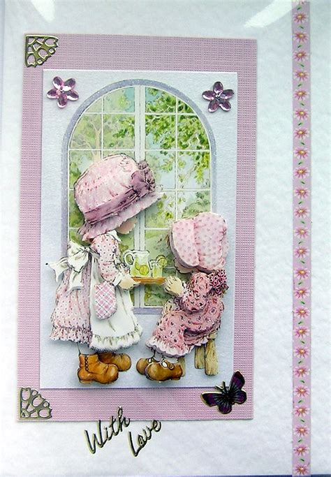 decoupage card afternoon tea crafted 3d decoupage card with
