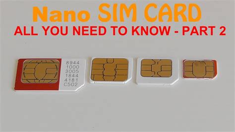 can i make my sim card into a microsim nano sim card all you need to part 2
