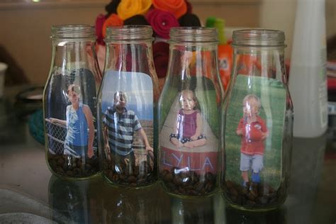 glass bottle craft projects glass bottle picture frames tutorial craft ideas
