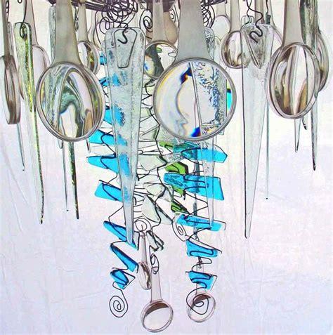 fused glass chandelier fused glass jellyfish chandelier kiln glass
