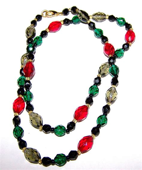 multi coloured bead necklace multi colored faceted glass bead necklace from