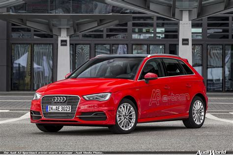 Audi Europe by The Audi A3 Sportback E Starts In Europe Audiworld