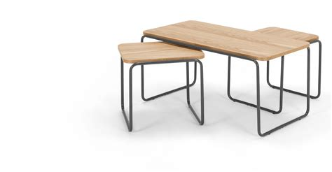 coffee and side tables hill coffee and 2 x nesting side tables ash made