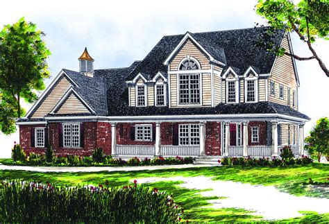 2 story farmhouse plans two story farmhouse 89153ah 1st floor master suite bonus room cad available corner lot