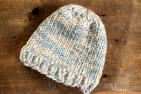 basic knit hat pattern basic knit beanie simplymaggie