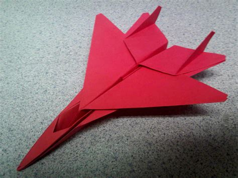 jet origami origami fighter jet by theorigamiarchitect on deviantart