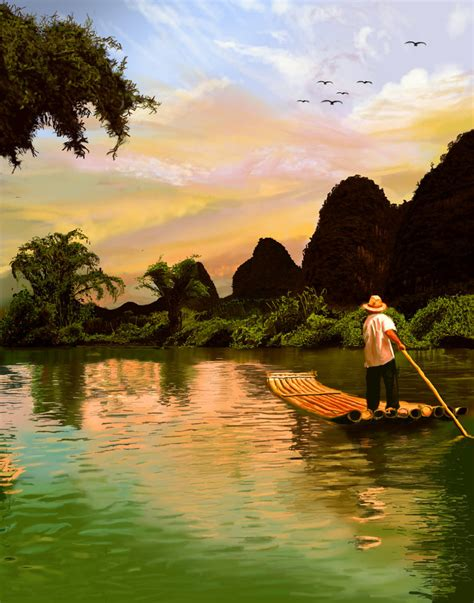 china painting guilin china painting by ficklestix on deviantart