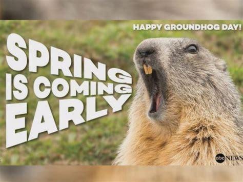 groundhog day 2015 no shadow pennsylvania groundhog predicts early