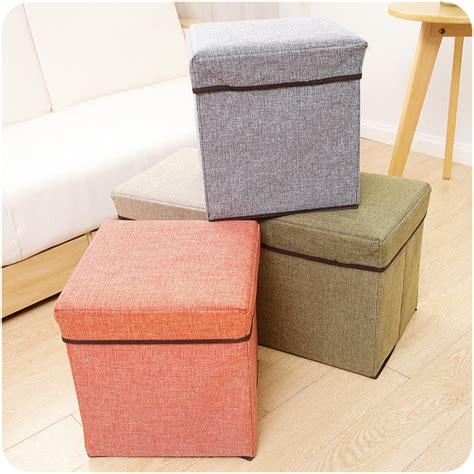 ottoman stool storage large folding storage single seat stool storage box