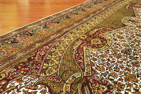 rugs silk isfahan silk on silk rug royal ivory handknotted