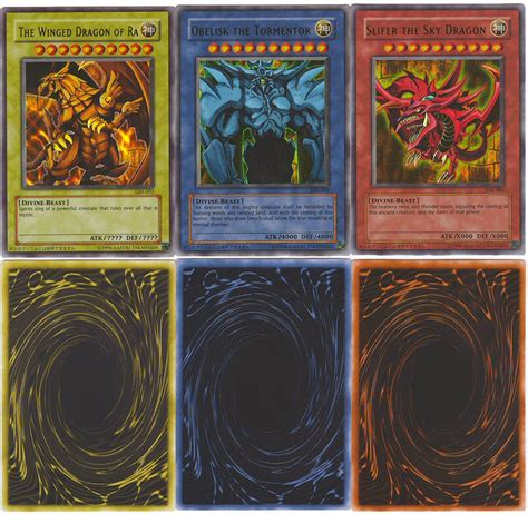 how does konami make yugioh cards yugioh authentic original konami 3 god cards yu gi oh ebay