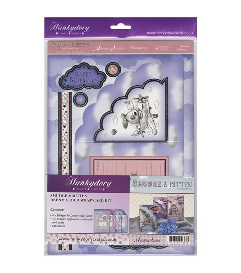 Hunkydory Crafts Smudge Mitten Cloud Wrap A4 Card