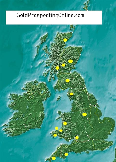 gold uk united kingdom gold prospecting equipment tips gold maps