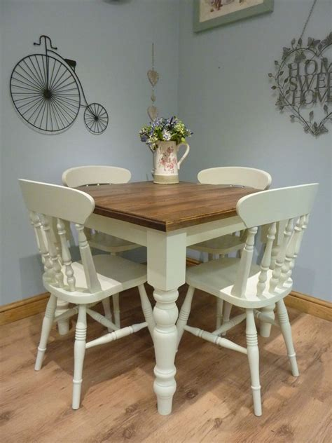 shabby chic dining tables and chairs bespoke handmade shabby chic farmhouse small square dining