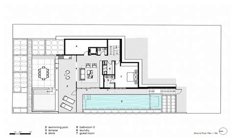modern open floor house plans modern house plans concrete