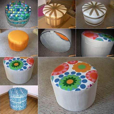 diy plastic wonderful diy easy ottoman from plastic bottles