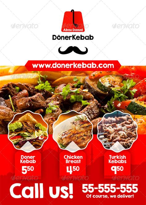 doner kebab a5 flyer by andehau graphicriver