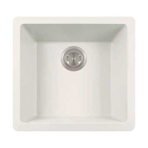 white undermount kitchen sink polaris sinks undermount granite 18 in single basin