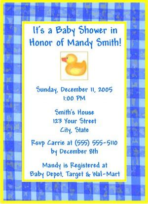 baby rubber sts ducky invitations