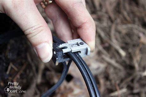 landscape lighting wire connectors how to install low voltage landscape lights pretty handy