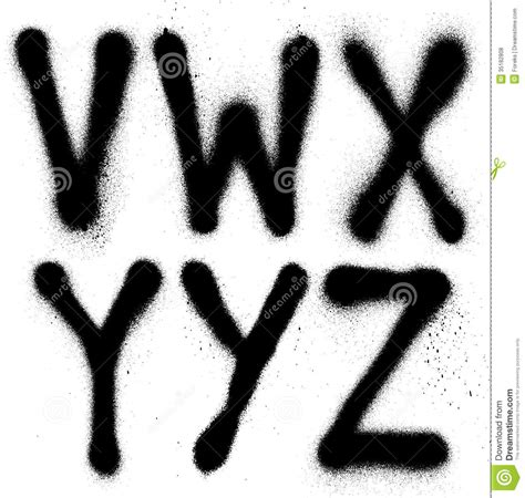 spray paint font graffiti spray paint font type part 4 alphabet royalty