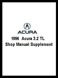 1996 acura 3 2 tl electrical troubleshooting manual 1996 acura 3 2 tl shop manual supplement