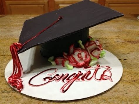 Rhinestones For Cakes Decorations by Graduation Cap Cake How To Cake Decorating Youtube