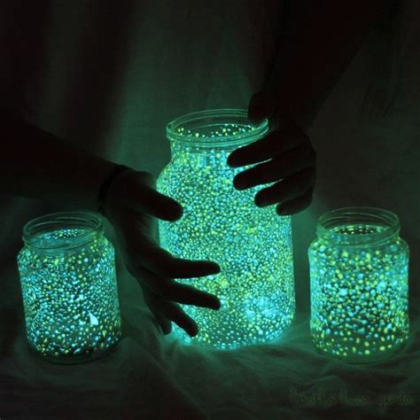 glow in the paint projects diy wedding ideas glowing jar project