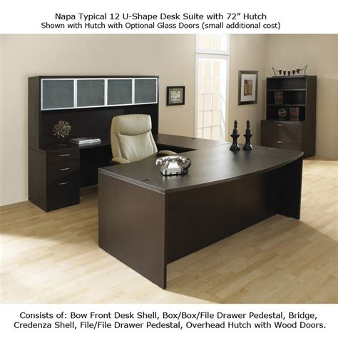 office u shaped desk u shape office desk suite w hutch 72inch x 113inch