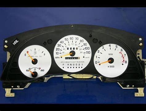 1995 1999 chevy lumina monte carlo tach dash cluster white face gauges ebay