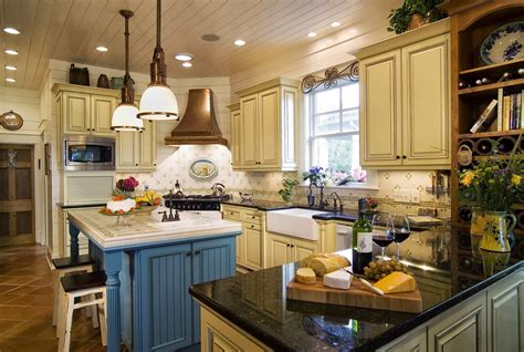 ideas for small country kitchens designs color blue small country kitchens ideas in blue and white colors