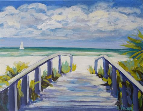 painting acrylic landscapes easy way bold colorful sailing florida landscape painting