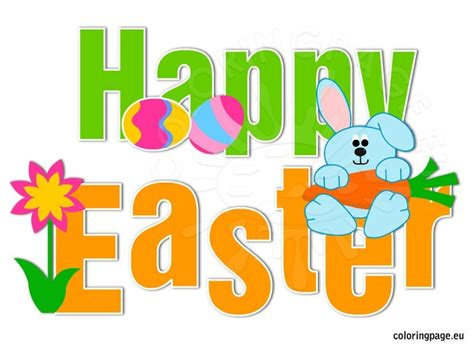 Free Happy Easter Clip by Easter Bunny Happy Easter Clip Cliparts