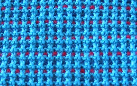 knitting stitches that lie flat waffle check slip stitch pattern