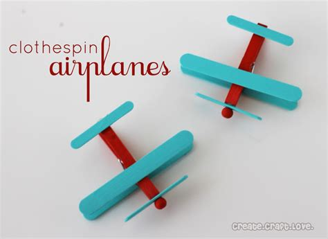 airplane craft projects clothespin airplanes favors create craft