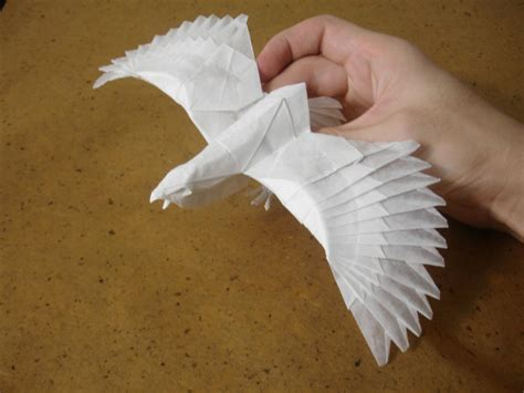 most complex origami eagle nguyen cuong by origami artist galen on deviantart