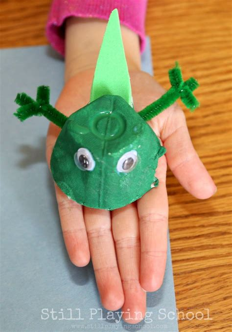 frog craft project frog cycle recycled craft still school