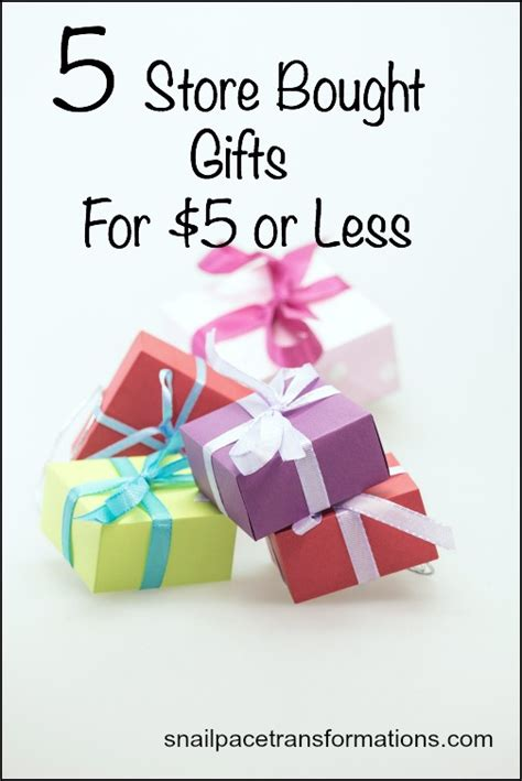 gifts for 5 dollars 5 store bought gifts for 5 or less