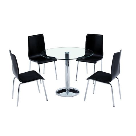 dining table with 4 chairs glass dining table and chairs clearance 187 gallery dining